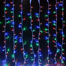 Гирлянда занавес светодиодный 320 led мультицвет