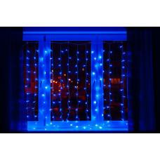 Гирлянда занавес светодиодный 320 led 3х2 голубой цвет