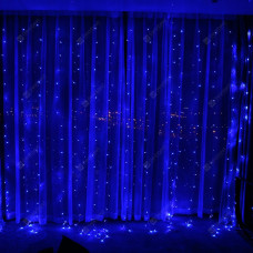 Гирлянда занавес светодиодный 640 led 3х3 голубой цвет