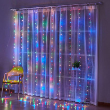 Гирлянда занавес светодиодный 640 led 3х3 мультицвет