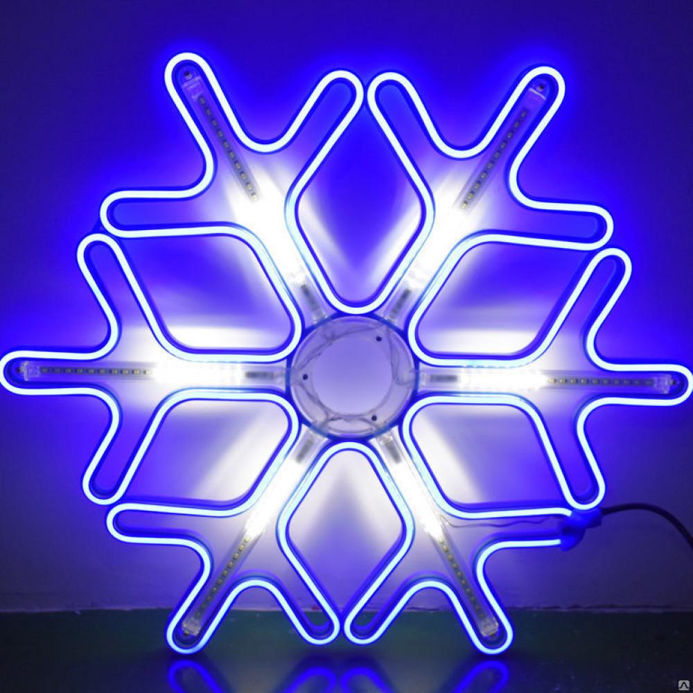 Снежинка светодинамическая 60 см