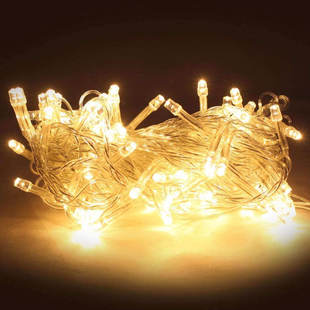 Гирлянда светодиодная 100 led 5м желтая