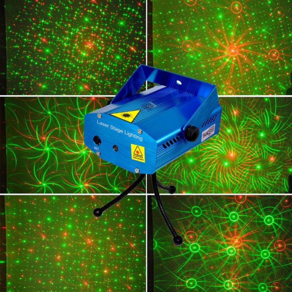 Лазерный проектор звездный дождь.