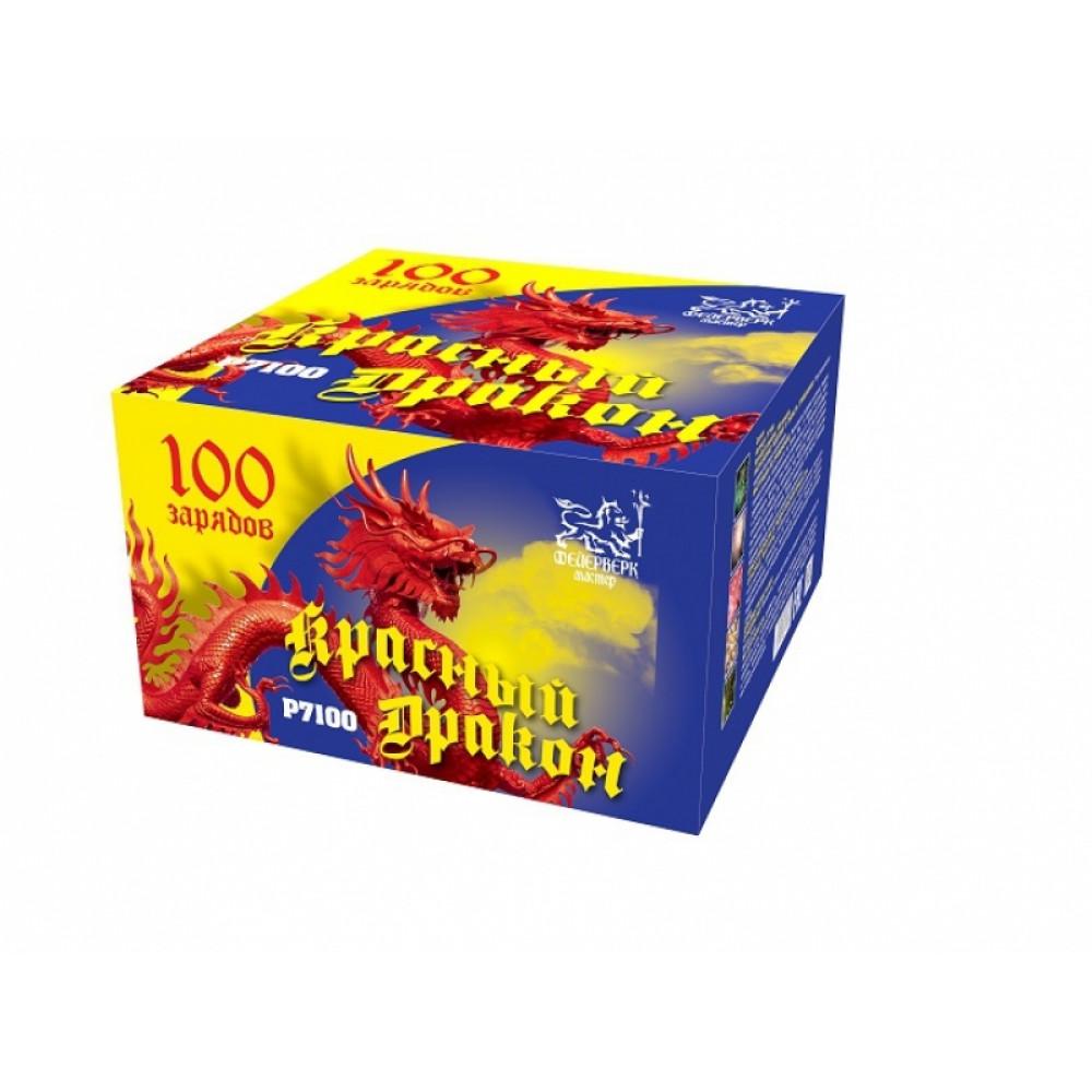 Салют Красный дракон P7100. производитель Фейерверк Мастер.