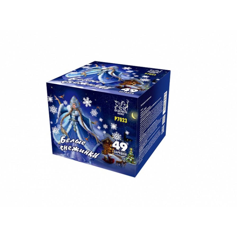 Салют Белые снежинки P7023. производитель Фейерверк Мастер.