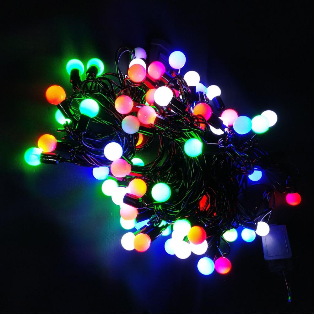 Гирлянда светодиодная с шариками 10м