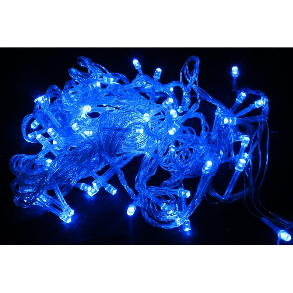 Гирлянда светодиодная 100 led голубая. производитель .