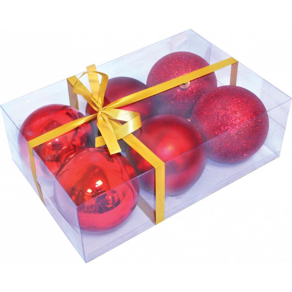 Шары новогодние в коробке 6 шт d=8 см. производитель .