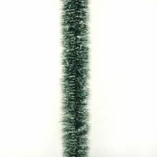 Мишура «Норка зеленая с белыми кончиками» d=7 см
