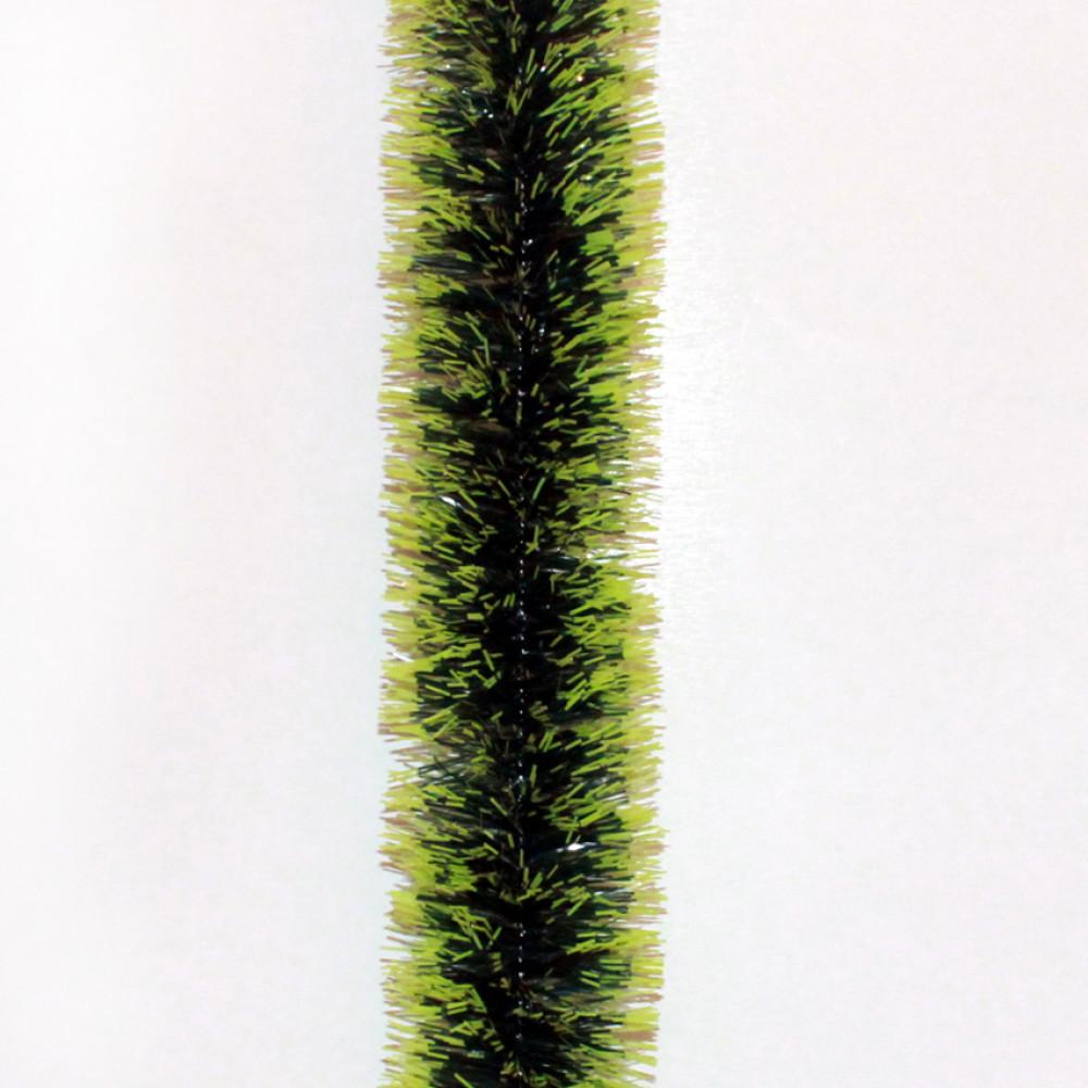 Мишура «Норка зеленая с салатовыми кончиками», d=5 см. производитель .