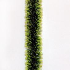 Мишура «Норка зеленая с салатовыми кончиками», d=5 см